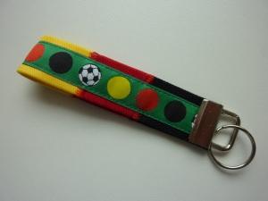 Schlüsselanhänger Deutschland schwarzrotgold mit grün