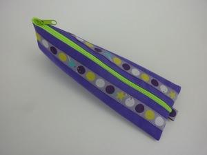 Stiftemäppchen Federmäppchen DOTS in lila und neongrün