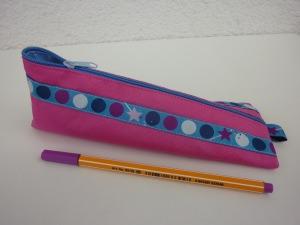 Stiftemäppchen Federmäppchen DOTS in pink und blau