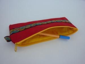 Mäppchen FLECHTZAUBER in rot und gelb