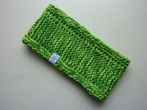 Stirnband neongelb grün Schurwolle