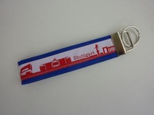 Schlüsselanhänger STUTTGART in blau rot weiß