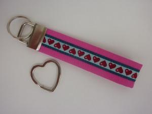 Schlüsselanhänger HERZCHEN in pink
