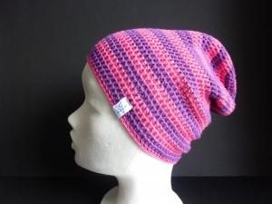 Sommermütze Häkelmütze Lila Pink Baumwolle