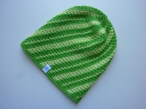 Sommermütze Häkelmütze grün hellgrün Baumwolle