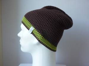 Sommermütze Häkelmütze Braun Grün aus Baumwolle