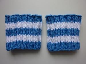 Pulswärmer Schweißbänder Blau Weiß