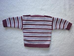 Babypulli Gr. 62/68 beere/flieder/weiß gestreift