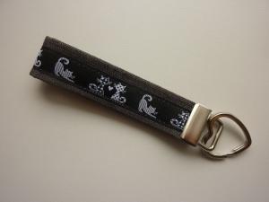 Schlüsselanhänger KATZE in schwarz