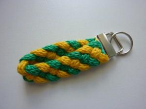 Schlüsselanhänger gelb grün