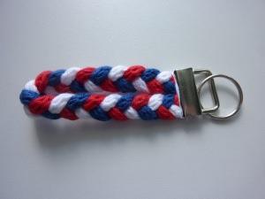Schlüsselanhänger blau weiß rot