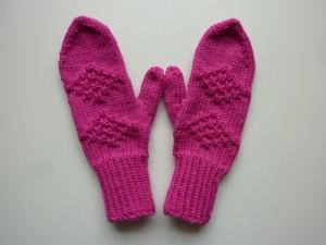 Handschuhe Fäustlinge pink Gr. 3 - 4