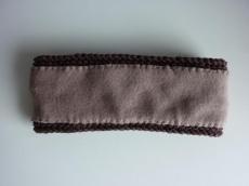 gefüttertes Stirnband in braun aus Baumwolle handgestrickt