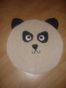 Gehäkelter Kinderteppich - Panda - aus Baumwolle - Handarbeit kaufen