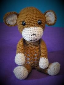 Gehäkeltes Nachtlicht - Dekolicht - brauner Affe - Kinderzimmer - Deko (Kopie id: 100188853) - Handarbeit kaufen