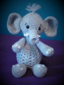 Gehäkeltes Nachtlicht - Dekolicht - Elefant - Kinderzimmer - Deko (Kopie id: 100188854) - Handarbeit kaufen