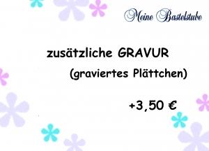 + zusätzliche Gravur Plättchen 3,50€  - Handarbeit kaufen