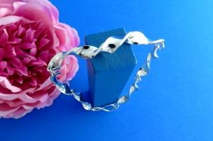 geschmiedetes Sterlingsilber-Armband handgearbeitet aus Argentium® kaufen - Handarbeit kaufen
