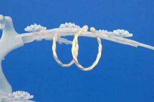 Sterlingsilber-Ohrringe eng gedreht handgearbeitet aus Argentium® kaufen - Handarbeit kaufen