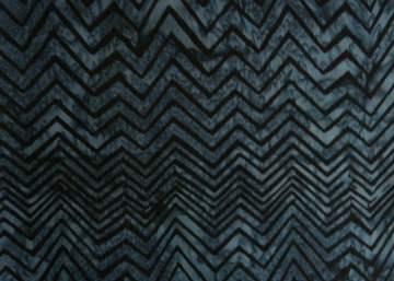 ✂ Batik Stoff Meterware Zick-Zack blau-schwarz