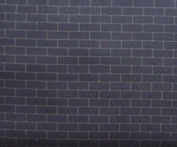 ✂ Patchworkstoff Meterware mit dunkelgrauen Ziegelsteinen dunkel  - Handarbeit kaufen