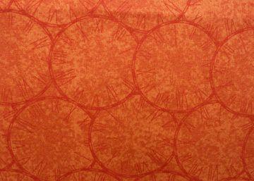 ✂ Patchworkstoff Meterware Silver Lining orange große Ringe - Handarbeit kaufen
