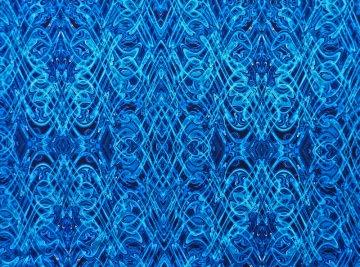 ✂ Patchworkstoff Meterware Paula Nadelstern Kismet 1774 blau - Handarbeit kaufen