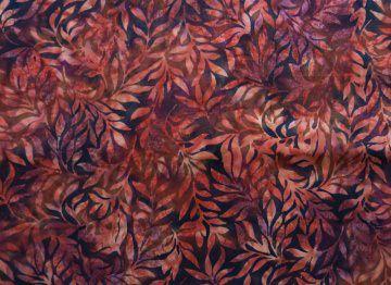 ✂ Patchworkstoff Meterware Batik 3353 - 316 Farnblätter dunkel