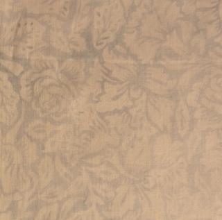 ✂ Patchworkstoff Meterware  Batik weiß mit zarten blauen Rosen  - Handarbeit kaufen