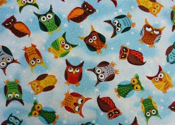 ✂ Patchworkstoff Meterware Paintbrush Studio Nite Owls