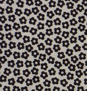 ✂ Patchworkstoff Meterware schwarze Blümchen auf weißem Grund - Handarbeit kaufen