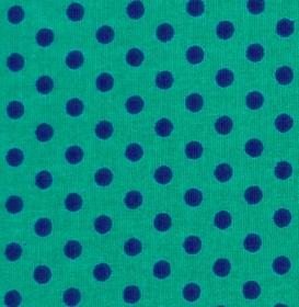 ✂ Patchworkstoff Meterware kleine lila Punkte auf türkisfarbenem Hintergrund