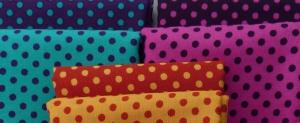 ✂ Patchworkstoff Meterware Punkte-Mix in 6 verschiedenen Farben - Handarbeit kaufen