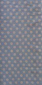 ✂ Patchworkstoff Meterware kleine weiße Punkte auf blauem Hintergrund - Handarbeit kaufen
