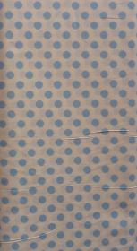 ✂ Patchworkstoff Meterware kleine blaue Punkte auf weißem Hintergrund