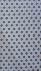 ✂ Patchworkstoff Meterware kleine beige Punkte auf weißem Hintergrund