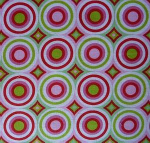 ✂ Patchworkstoff Meterware  Tante Ema Kreise pink-grün