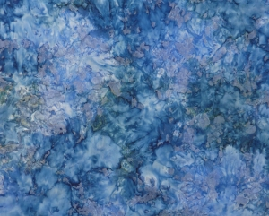 ✂ Patchworkstoff Meterware  wunderschöner Batikstoff mit blau-grauem Verlauf