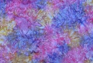 ✂ Patchworkstoff Meterware  wunderschöner Batikstoff mit blau-pink Verlauf - Handarbeit kaufen