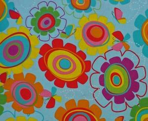 amerikanischer Patchworkstoff Meterware Studiofabrics Snail trails Blumen - Handarbeit kaufen
