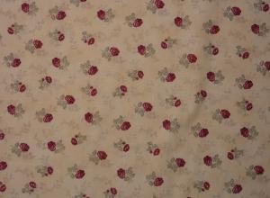 amerikanischer Patchworkstoff Meterware Quilters Basic zarte Rosen hell - Handarbeit kaufen