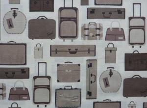 ✂ Patchworkstoff Meterware  stoffabrics Slow Travel  Koffer - Handarbeit kaufen