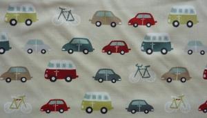 ✂ Patchworkstoff Meterware Roundabout kleine bunte Autos - Handarbeit kaufen
