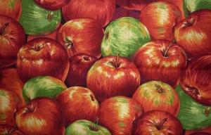 ✂ Patchworkstoff Meterware Obst und Gemüse - Äpfel - Handarbeit kaufen