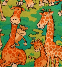 ✂ Patchworkstoff Meterware Zany Zoo Lustige Giraffen - Handarbeit kaufen