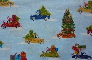 ✂ Patchworkstoff Meterware Weihnachtsstoffe Makower Wunderland Cars