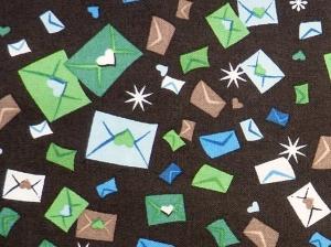 ✂ Patchworkstoff Meterware Weihnachtsstoffe Tante Ema Briefe - Handarbeit kaufen