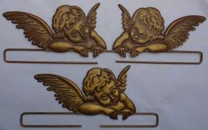 ✂ Dekobügel Engel altgold in Größe 1 - 20 cm
