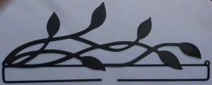 ✂ Dekobügel Blätter schwarz - Größe 30 cm