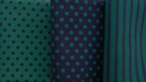 ✂ Stoffpaket Streifen-Punkte-Mix in türkis - Handarbeit kaufen